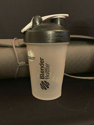 Blender Bottle 20 oz Classic Loop Top Clear Black Top Genuine BPA Free