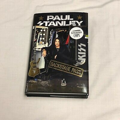 SIGNED IN PERSON Backstage Pass book by Paul Stanley KISS 1st/1st HCDJ  WOW!!