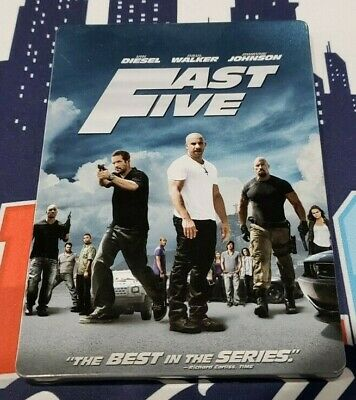 Fast Five (Fast and the Furious) (Blu-ray Disc, SteelBook No Digital Codes)