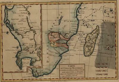 Southeast Africa Madagascar Mozambique c.1780 Monomotapa Table Bay Good Hope map
