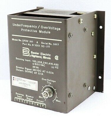 Basler Electric Ufov260A Underfrequency Overvoltage Protective Module 9105100105