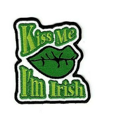 Kiss Me I'm Irish Patch Irish Luck Iron On To Sew On Patch Cut Out Applique
