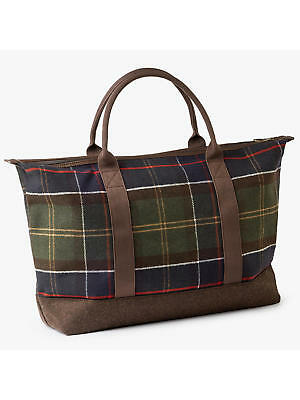 4460c2f3d6 New Barbour Classic Tartan Wool Mix Weekend Holdall Bag R.r.p. £70.00