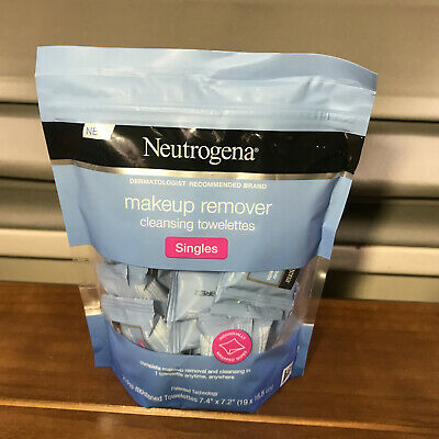 2 Packs Neutrogena Makeup Remover Cleansing Towelettes Singles 20 Per Pack
