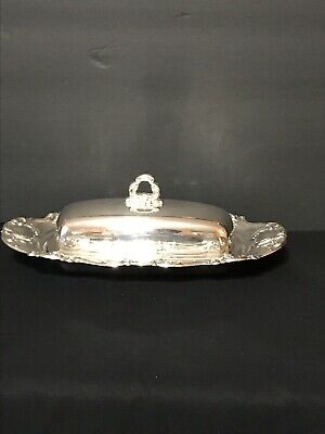 Towle Old Master 1/4 Pound Silverplate Butter Dish, With Liner