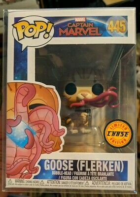 Funko Pop! Goose Flerken Chase Limited Edition With Protector Captain Marvel New