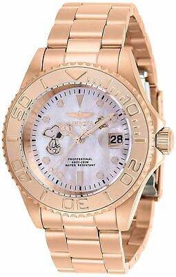 Invicta Pro Diver Character Collection Snoopy Men's Rose Gold Watch 28519 40mm