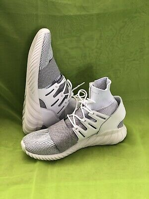 new product 2c282 4b2e9 Adidas Originals Tubular Doom Primeknit PK Lifestyle Sneakers White New  BY3553