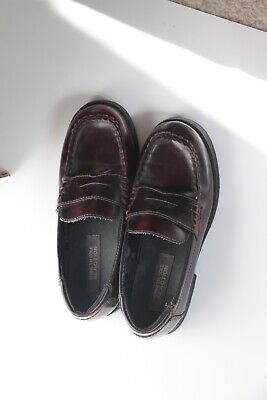 Kenneth Cole Reaction BOYS Penny Loafer Slip On Shoe Burgundy Size 1.5 EUC
