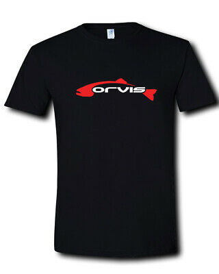 Orvis Logo Fly Fishing Rods Fly Rod Combos Gear Outfits Black T-Shirt S M L- 2XL