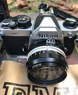 Nikon FM2 With 28mm Lens, Vivitar Flash, And Extras - Great Shape