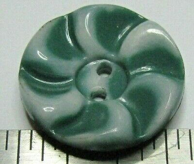 Vintage Plastic Colt Firearms Button #5 Green and White