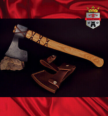 064F Viking Style Bush axe - KingForge, High Carbon Steel, replica Floki Vikings