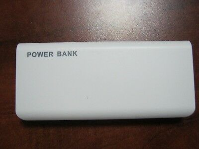 Portable USB External 20000mAh Battery Cell Phone Charger Power Bank White.