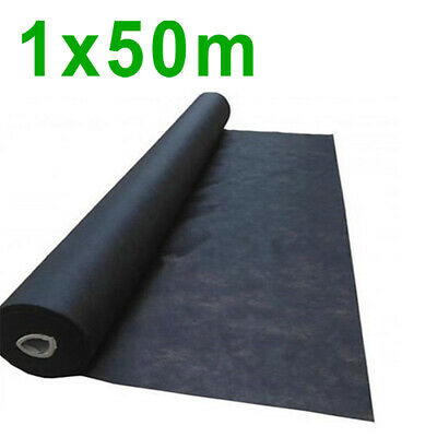 1m x 50m wide weed control fabric ground cover membrane landscape mulch garden