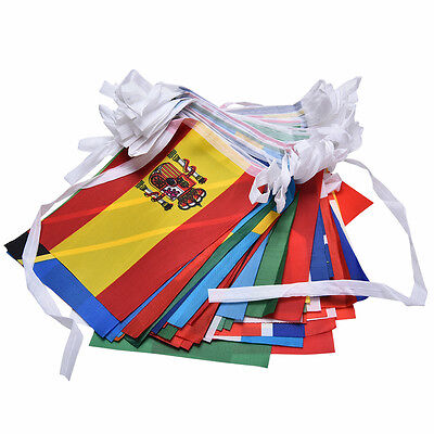 100X Countries String Flag 25M International World 82ft Bar Party Bunting NEW Au