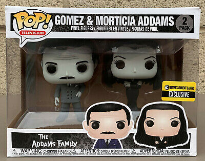 Funko POP! Television: The Addams Family - Gomez and Morticia Addams 2PK EE Excl