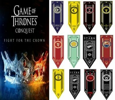 Game of Thrones House Banner Flag Wall Hanging Drape Stark Jon Snow Tapestry New