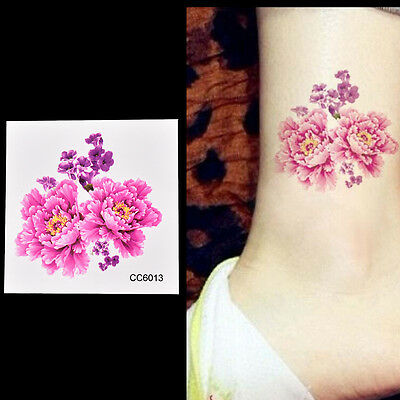 4a3257b92a84c 3X Fake Temporary Tattoo Sticker beauty flower Arm Body Waterproof Women Art  Au