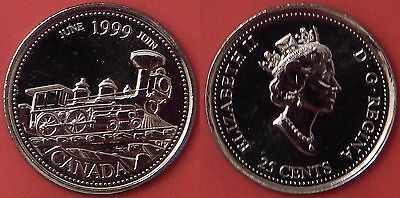 Proof Like 1999 Canada June 25 Cents From Mint's Set