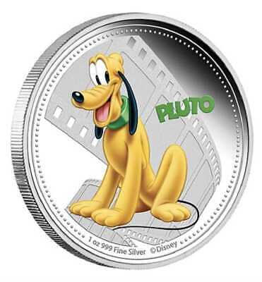 2014 $2 Niue - Disney Mickey and Friends - Pluto - 1 oz silver proof coin