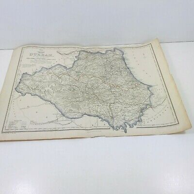 Original County Map by John Dower 1862 - 1863 County Durham