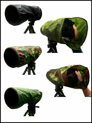 Canon 300mm f4 Waterproof Camera and lens Rain cover : Black Green Camouflage