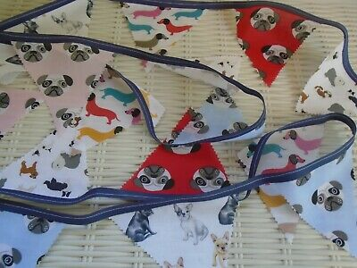 Dog Bunting Pugs Sausage Dogs French Bull Dog Garland Party Decor Fete Charity