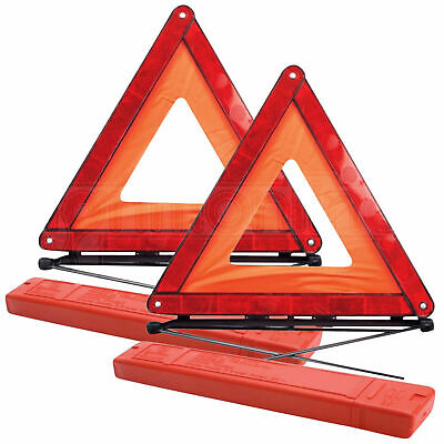 2 x Large Warning Car Triangle Reflective Road Emergency Breakdown Safety Hazard