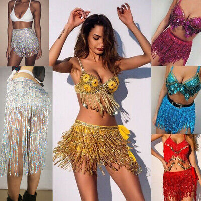 Long Fringe Skirt Party Music Hip Scarf Tassel Waistband Tribal Wrap Belt Skirt