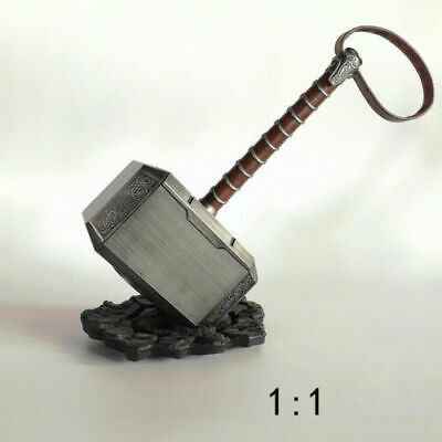 ABS 1:1 Avengers Thor The Dark World Hammer Mjolnir Prop Cosplay toy + Free base
