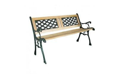 Westwood Outdoor Wooden 3 Seater Cross Lattice And Slat Style Garden Bench