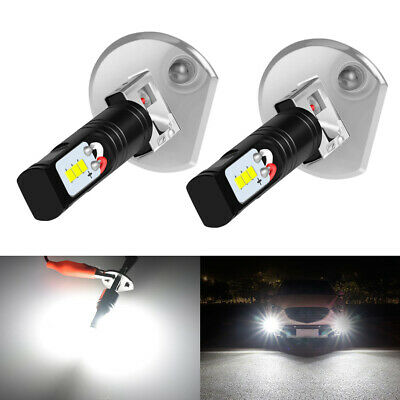 Nighteye 2X H1 1600LM 6500K Cool White LED Fog Light Bulbs Lamp Replacement 160W