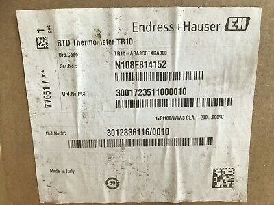 Endress + Hauser TR10 RTD Thermometer ABA3CBTXCA000