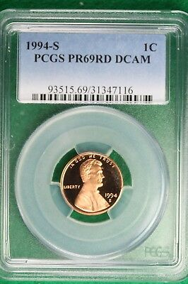 1994-S PCGS PROOF PR 69 RED DEEP CAMEO  Lincoln Memorial Cent!! #B10214