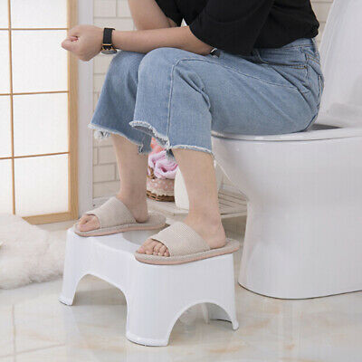 1Pc toilet squatty step stool bathroom potty squat aid for constipation rel AO
