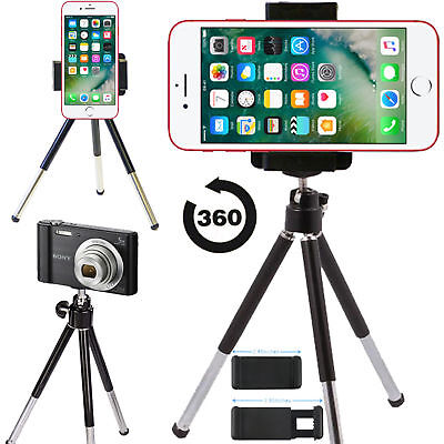 New Phone Mobile Mini Tripod Universal Adjustable 360 Angle Stand Camera Holder