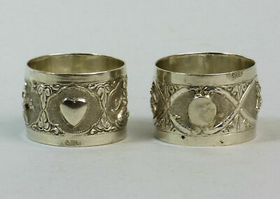 Antique Pair Of Indian Silver (Tested) Napkin Rings C.1890