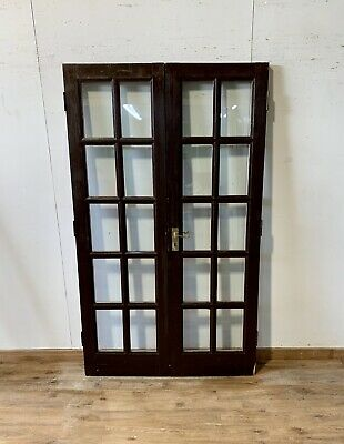 Timber Handmade/Bespoke French Doors-Georgian Bars-Wooden-Double Glazed-Clear