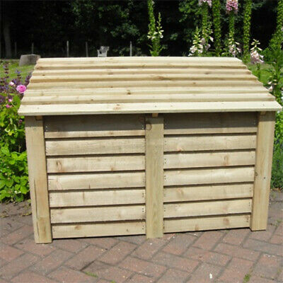 Charmed Wood Storage Chest. High Quality Garden Store. Compact and Stylish