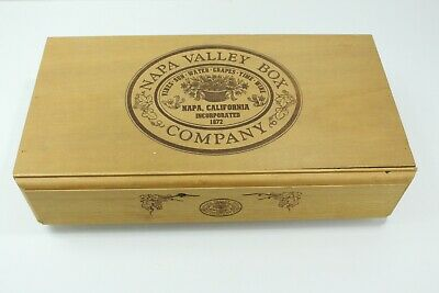 Napa Valley Wooden Hinged Hidden Cassette Tape Holder 3 Crates Tabletop Storage