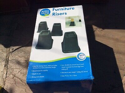 Set 4 Square Furniture Risers