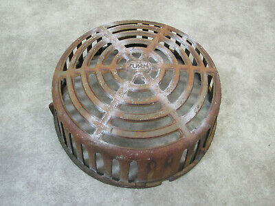 Vintage Zurn Cast Iron Drain Cover Sewer Grate Industrial C0Mmercial
