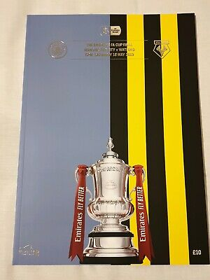 FA CUP FINAL 2019: MANCHESTER CITY v WATFORD 18th MAY 2019~MINT & UNREAD~F/POST