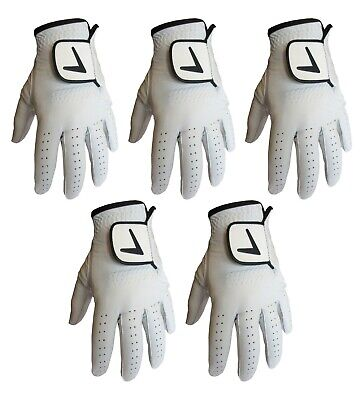 5 X FULL LEATHER CABRETTA Golf Gloves MENS LH & RH - ONLY £2.89 EACH! OCT SALE