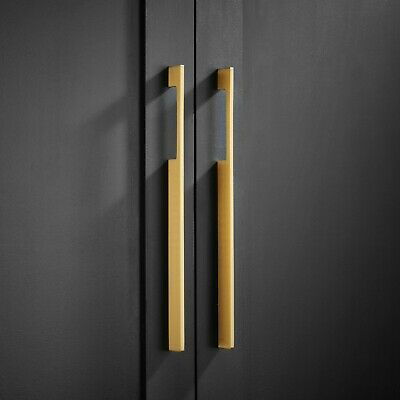 Solid Brass Small Medium & Large Gold Door and Drawer Pull Handles