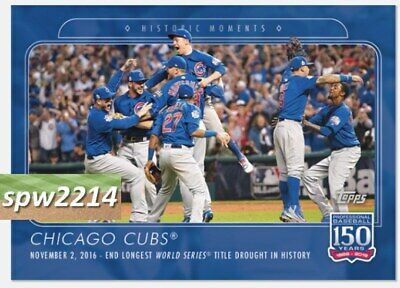 2019 Topps 150 Years of Baseball - Chicago Cubs End World Series Drought #32