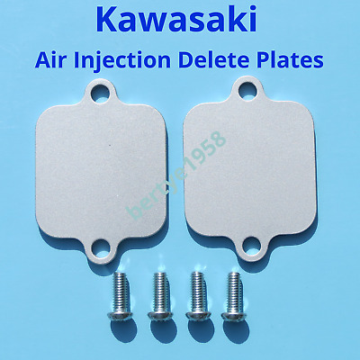 PAIR AIS Exhuast Air Injection Block Plates Kawasaki ZX10R 6R 6RR 14R 636 others