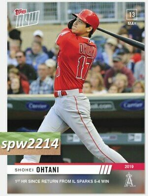 2019 Topps Now Shohei Ohtani #223 1st HR Since Return from IL