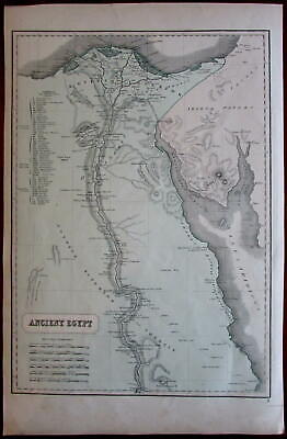 Ancient Egypt Nile Arabia Petraea 1855 Phillips large old map